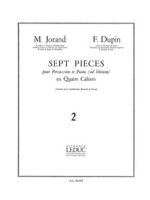 7 Pièces Volume 2 Jorand M. / Dupin F. Partition laflutedepan