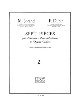 Jorand M. / Dupin F. - 7 Pièces Volume 2 - Partition - di-arezzo.fr