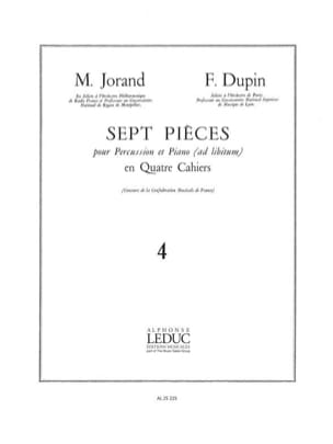 Jorand M. / Dupin F. - 7 Pièces Volume 4 - Partition - di-arezzo.fr