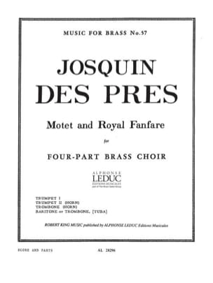 Des Pres Josquin - Motet and royal fanfare - Partition - di-arezzo.fr