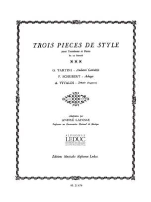 - Trois Pièces de Style - Partition - di-arezzo.fr