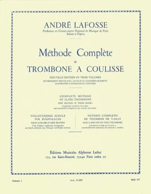 André Lafosse - Slide Trombone Method Volume 1 - Partitura - di-arezzo.it