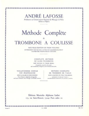 André Lafosse - Slide Trombone Method Volumen 2 - Partition - di-arezzo.es