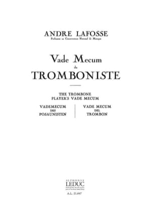André Lafosse - Trombonist's Vade Mecum - Sheet Music - di-arezzo.co.uk