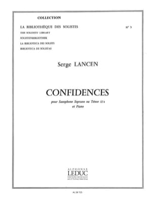 Serge Lancen - Confidences - Partition - di-arezzo.fr