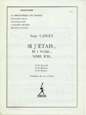 Serge Lancen - Si J 'Etais ... 22, 23, 24 - Partitura - di-arezzo.es