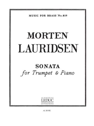 Sonata Morten Lauridsen Partition Trompette - laflutedepan