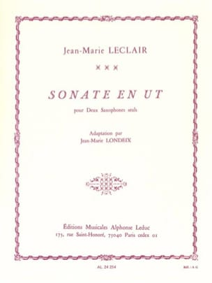 Sonate en Ut LECLAIR Partition Saxophone - laflutedepan