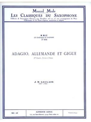 J.M. Leclair - Adagio, Allemande et Gigue - Partition - di-arezzo.fr