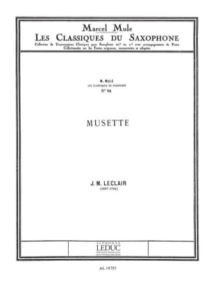 Musette Leclair Jean M / mule Partition Saxophone - laflutedepan