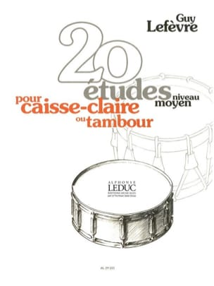Guy Lefèvre - 20 Studies - Middle level - Sheet Music - di-arezzo.co.uk