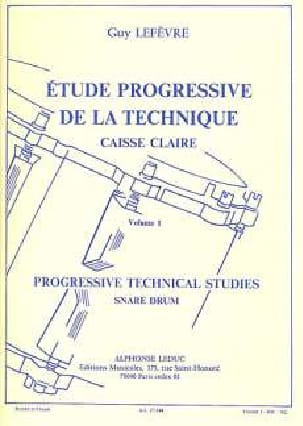 Guy Lefèvre - Etude Progressive de la Technique Volume 1 - Partition - di-arezzo.fr