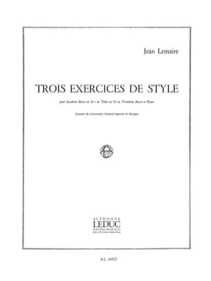Jean Lemaire - Three Style Exercises - Sheet Music - di-arezzo.com