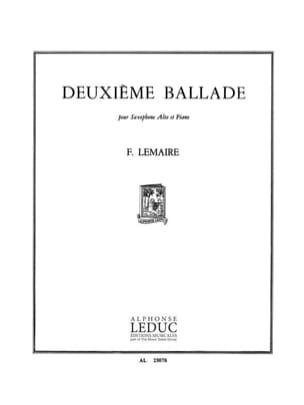 Felix Lemaire - Deuxième Ballade - Partition - di-arezzo.fr