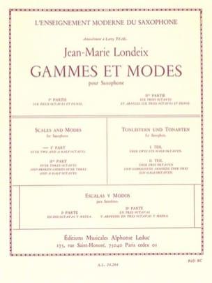 Gammes et Modes Volume 1 Jean-Marie Londeix Partition laflutedepan