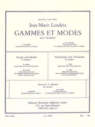 Gammes et Modes Volume 2 Jean-Marie Londeix Partition laflutedepan