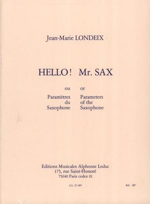 Jean-Marie Londeix - こんにちは! Mr. SaxまたはSaxophone Parameter - 楽譜 - di-arezzo.jp