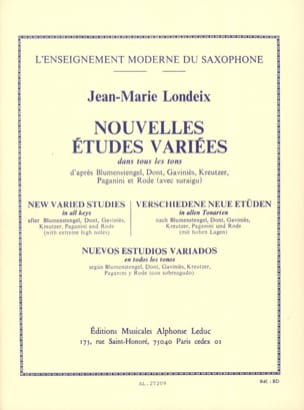 Jean-Marie Londeix - New Varied Studies in All Tones - Sheet Music - di-arezzo.co.uk
