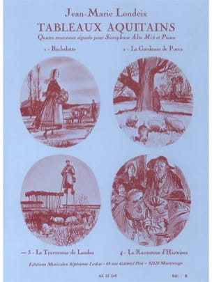 Jean-Marie Londeix - Aquitaine Paintings - Landes Traverse - Volume 3 - Sheet Music - di-arezzo.co.uk