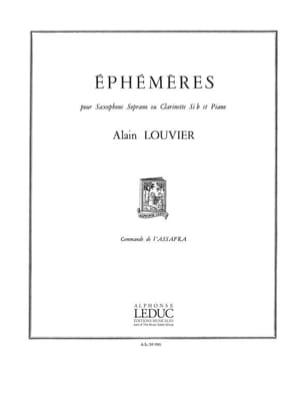 Ephémères Alain Louvier Partition Saxophone - laflutedepan