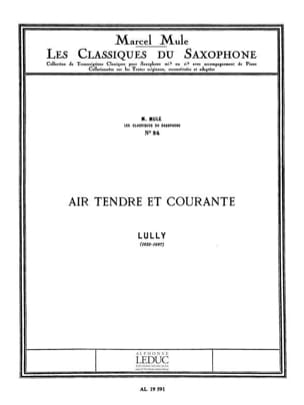 Air Tendre et Courante LULLY Partition Saxophone - laflutedepan