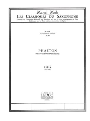 Phaéton Jean B Lully Partition Saxophone - laflutedepan