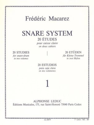 Frédéric Macarez - Snare System Volume 1 - 20 Studies - Sheet Music - di-arezzo.co.uk