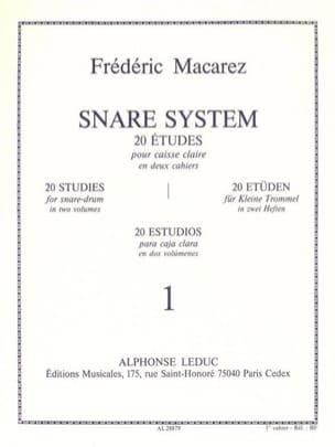 Frédéric Macarez - Snare System Volume 1 - 20 Etudes - Partition - di-arezzo.fr