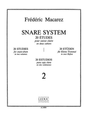 Frédéric Macarez - Snare System Volume 2 - 20 Studies - Sheet Music - di-arezzo.co.uk