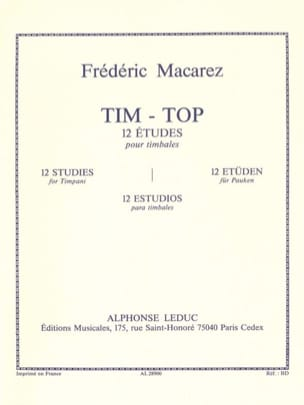 Frédéric Macarez - Tim-Top - 12 Studies - Sheet Music - di-arezzo.co.uk