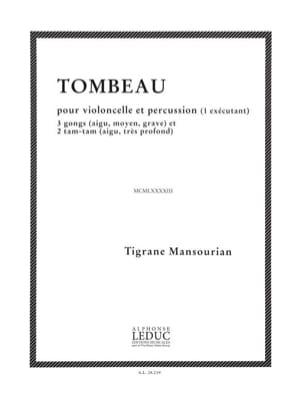 Tigrane Mansourian - Tombeau - Partition - di-arezzo.fr