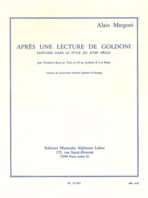 Alain Margoni - After a Goldoni Lecture - Sheet Music - di-arezzo.co.uk