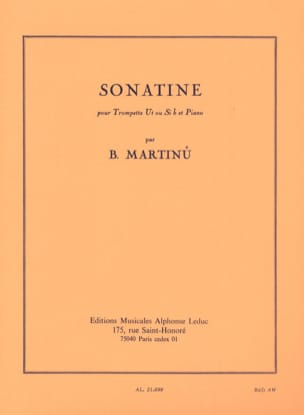 Bohuslav Martinu - Sonatine - Partition - di-arezzo.co.uk