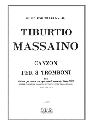 Tiburtio Massaino - Canzon Per 8 Tromboni Score - Parts - Sheet Music - di-arezzo.co.uk