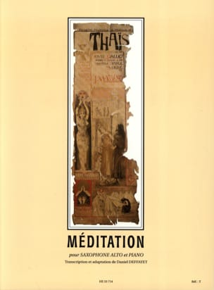 Jules Massenet - Thais, Meditation - Sheet Music - di-arezzo.co.uk