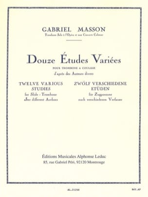 Gabriel Masson - 12 Various Studies - Sheet Music - di-arezzo.com