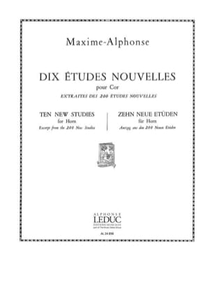 Maxime-Alphonse - 10 Studies News - Sheet Music - di-arezzo.co.uk