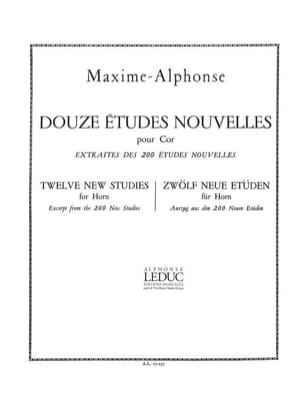 Maxime-Alphonse - 12 Studies News - Sheet Music - di-arezzo.co.uk