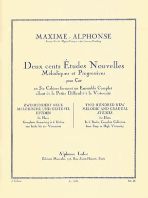 Maxime-Alphonse - 200 Studies News Volume 4 - Sheet Music - di-arezzo.com