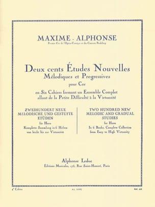 Maxime-Alphonse - 200 Etudes Nouvelles Volume 4 - Partition - di-arezzo.fr