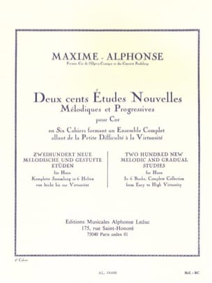Maxime-Alphonse - 200 Studies News Volume 5 - Sheet Music - di-arezzo.com