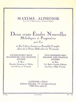 Maxime-Alphonse - 200 Estudios Noticias Volumen 6 - Partitura - di-arezzo.es