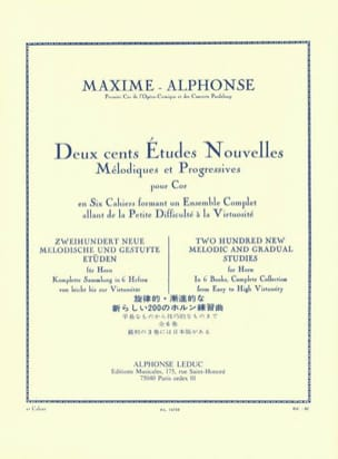 Maxime-Alphonse - 200 Studies News Volume 2 - Sheet Music - di-arezzo.com