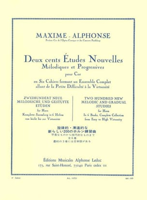 Maxime-Alphonse - 200 Studies News Volume 3 - Sheet Music - di-arezzo.com