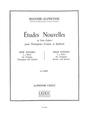 Maxime-Alphonse - Etudes Nouvelles Volume 1 - Partition - di-arezzo.fr