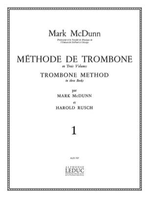Méthode de Trombone Volume 1 Mcdunn / Rusch Partition laflutedepan