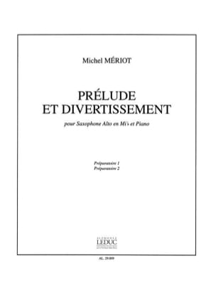 Prélude et Divertissement Michel Mériot Partition laflutedepan