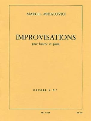 Improvisation Marcel Mihalovici Partition Batterie - laflutedepan