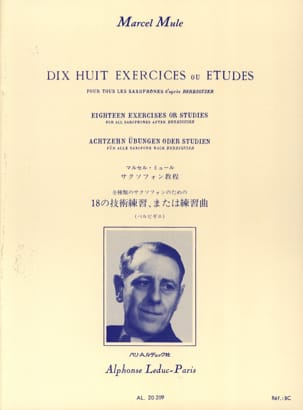 Marcel Mule - 18 Exercises or studies according to Berbiguier - Sheet Music - di-arezzo.co.uk