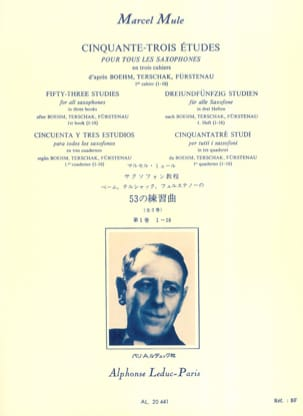 Marcel Mule - 53 Studies After Boehm, Terschak, Fürstenau Volume 1 1-18 - Sheet Music - di-arezzo.com